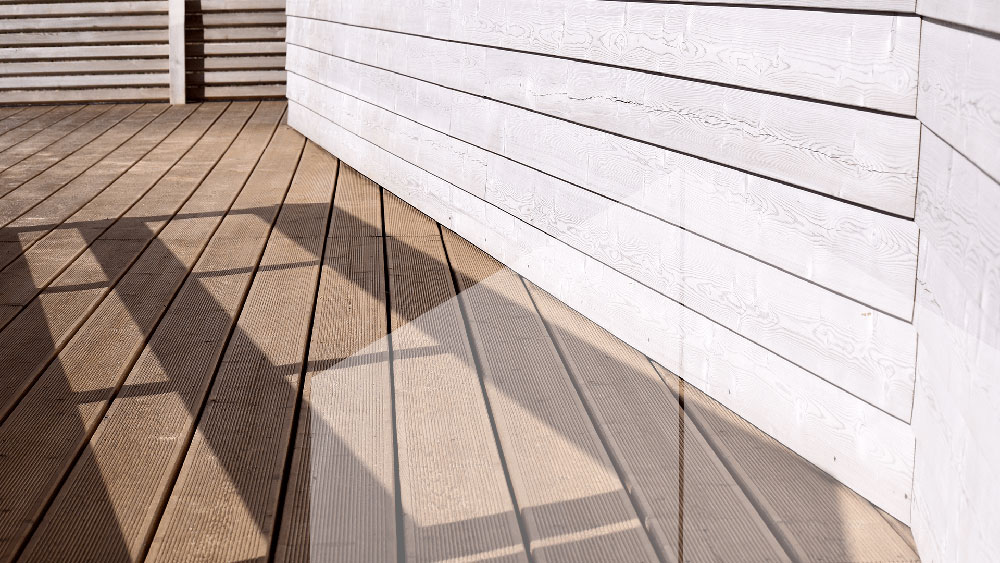 clean siding and deck of a residential property